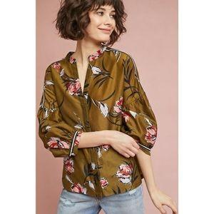 ANTHRO Vineet Bahl Floriana Floral printed blouse